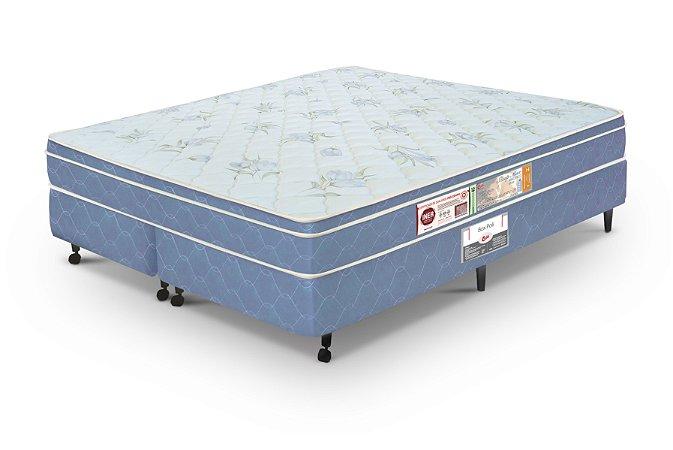 Cama Box King Casal  Azul Castor  Sleep Max D45 180X200x60