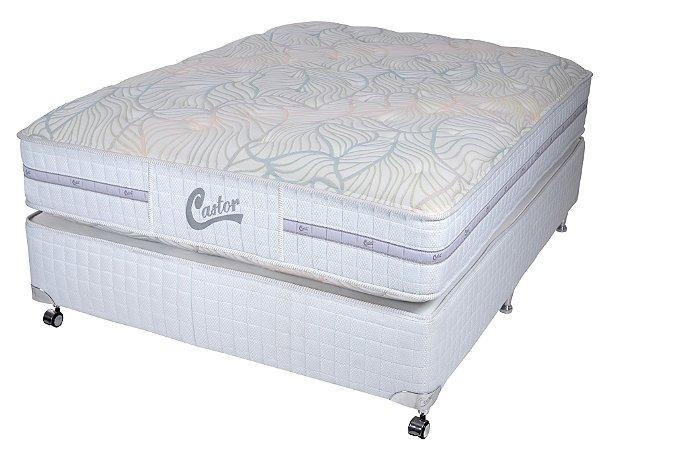 Cama Box Queen Casal Castor Vitagel Classic Double Face 158X198x066