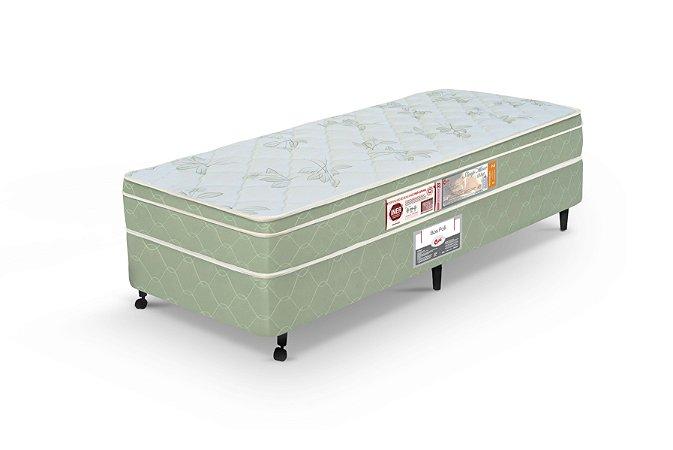 Cama Box Solteiro Verde Castor  Sleep Max D33 096x203x60