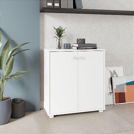 Armário Branco 2 Portas 1 Prateleira Office - BRV Móveis