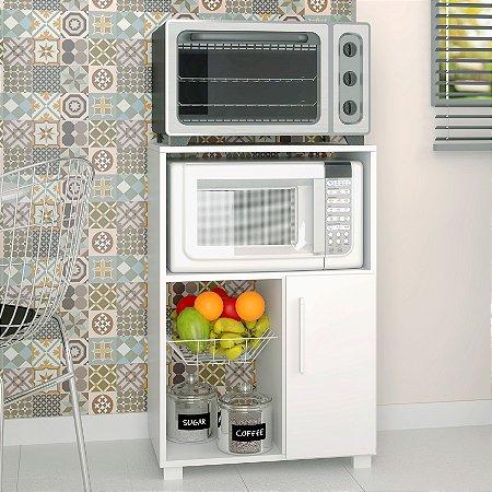 Balcão Fruteira 1 Porta 1 Cesto de Metal Cozinha - BRV Móveis