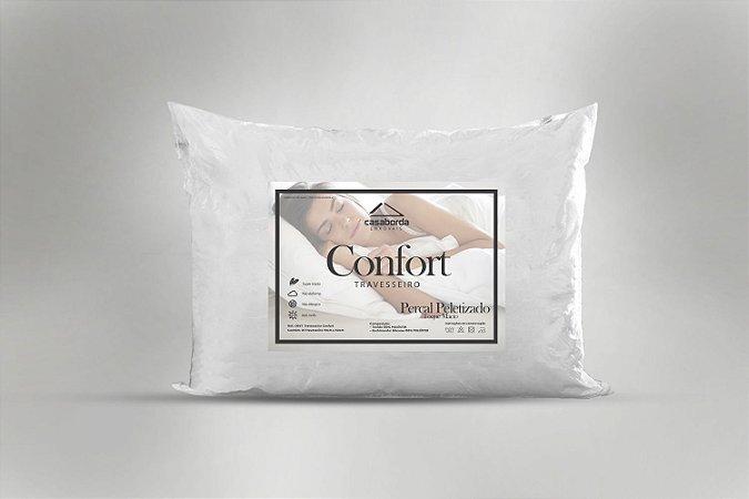 Kit Travesseiro Confort 2 Peças 50x70 cm 200 fios Branco