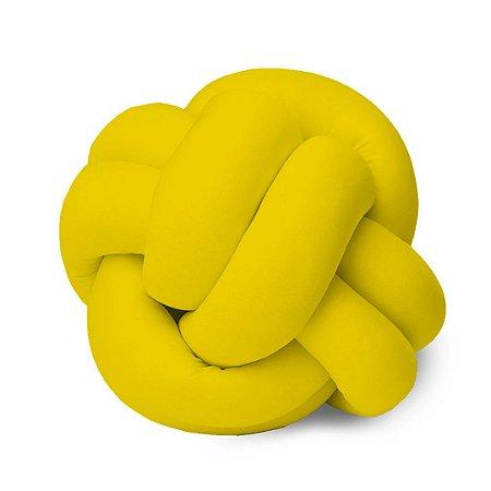 Almofada Nó Isabela Avulsa - Cor Amarelo