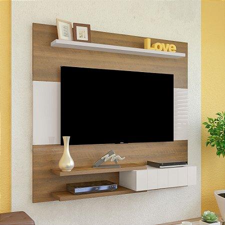 Painel Monza Para  Tv Até 50 Polegadas Pinho  Off White  Artely