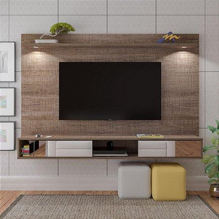 Painel Platinum  Para TV até 55 Polegadas  Com Espelho e Iluminação Led