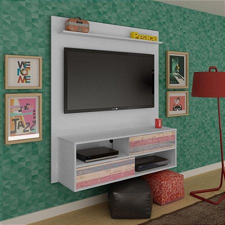 Painel Para Tv Até 47 Polegadas Artely Dallas Antique/branco Dupla Montagem