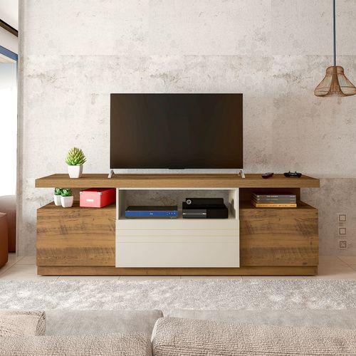 Rack TV até 50 polegadas Artely Munique Cor Pinho OFF WHITE