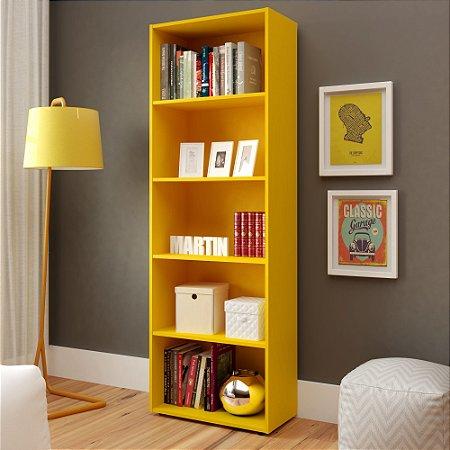Estante Para Livros  Multy Amarelo 4 Prateleiras