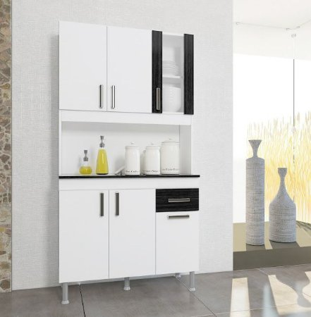 Armário de cozinha Lion Indekes 6 portas 1 Gaveta  Branco