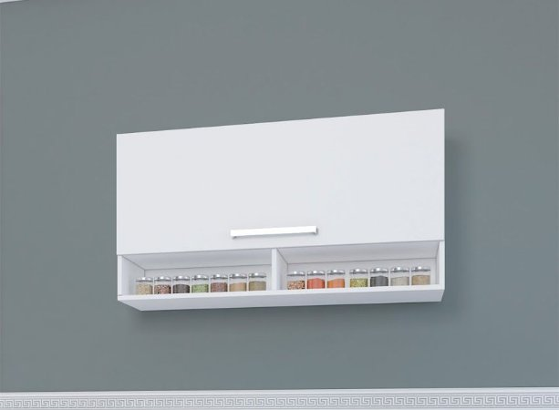 Armário Basculante 105 Indekes Branco