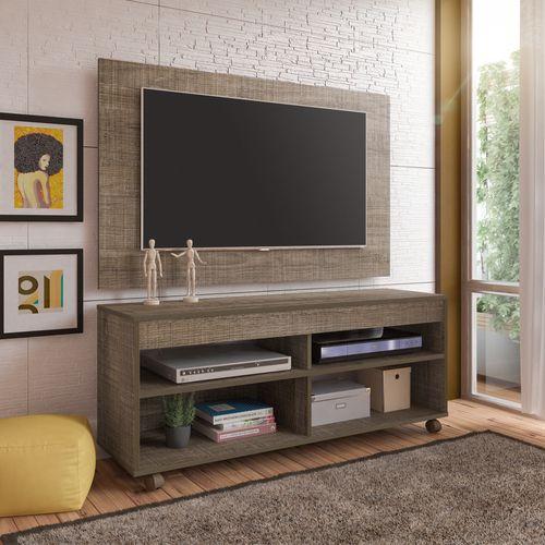 Rack Com Painel Cross Para Tv Até 42 Polegadas Canela