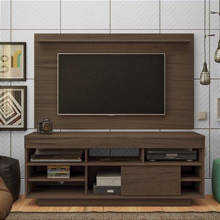 Rack com Painel para TV até 47 polegadas Roma Amendoa Artely