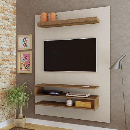 Painel  Orion Artely para TV até 42 Polegadas Off White Pinho