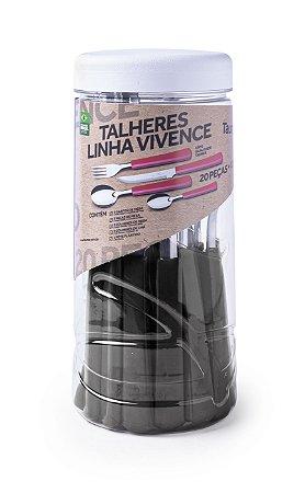 Jogo de Talhres 21 peças Taumer Vivence