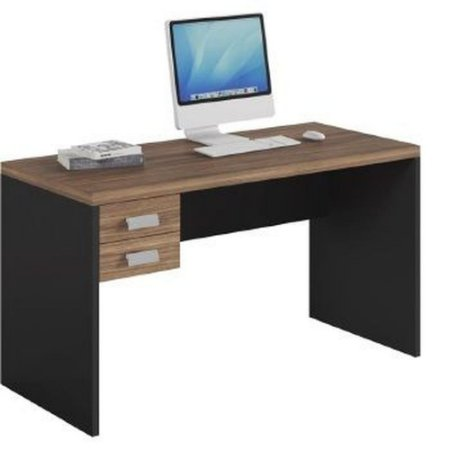 Mesa para PC Studio 2 Gaveta Argan Preto Tex Caemmun