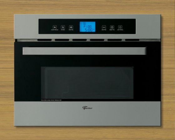 Forno Micro-ondas de Embutir  Platinum Fischer 110 Grill Inox