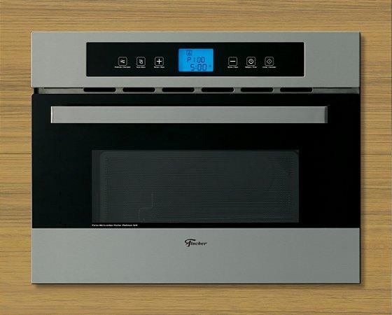 Forno Micro-ondas de Embutir  Platinum Fischer 220 Grill Inox