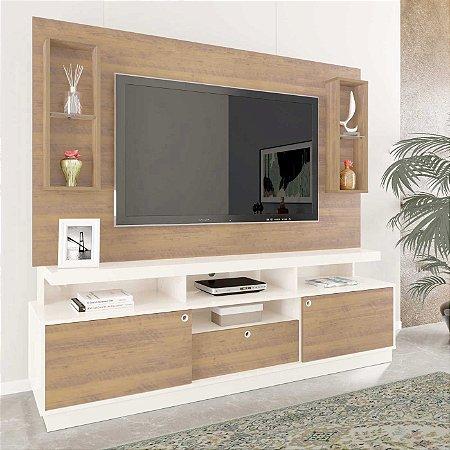Home Sevilha para TV até 70 Plegadas Artely Pinho Off White