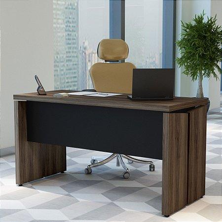 Mesa  De Escritório Operacional Artany Nogal/Preto
