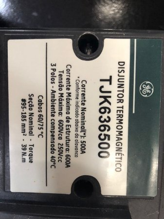 Disjuntor Tripolar 500A 42KA TJK636500