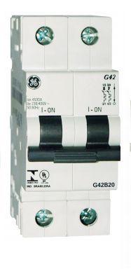 Mini Disjuntor 2P Curva B, Marca GE