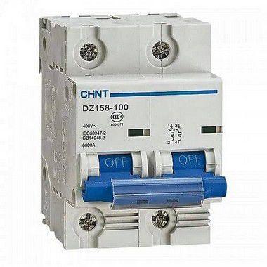 Mini Disjuntor 2P C 6Ka Dz158, Marca Chint