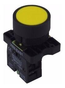 Botão Redondo 22Mm Amarelo NP2 EA50 Cabeça Plastica, Marca Chint