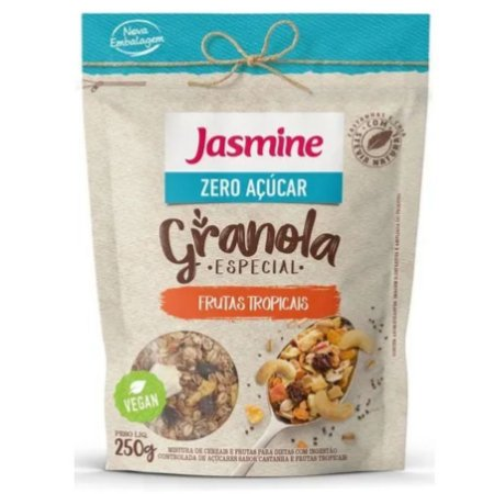 Granola Especial Zero Açúcar Frutas Tropicais 250g - Jasmine
