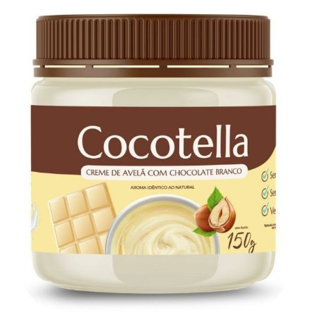 Creme de avelã com chocolate branco - Cocotella 215g - Cocodensado