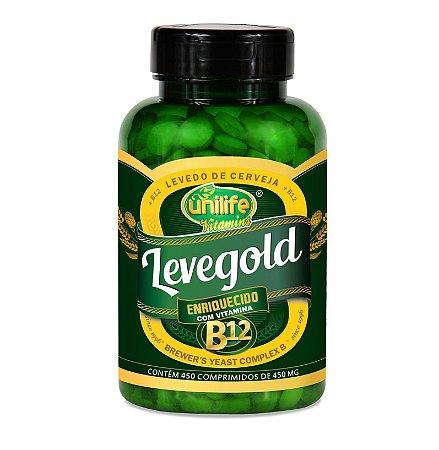 Levegold - Levedura de cerveja enriquecida com vitamina B12 - 450 comprimidos de 450mg - Unilife