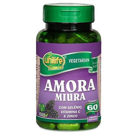 Amora Miura com Selênio, Vitamina C e Zinco - 60 cápsulas de 500mg cada – Unilife Vitamins