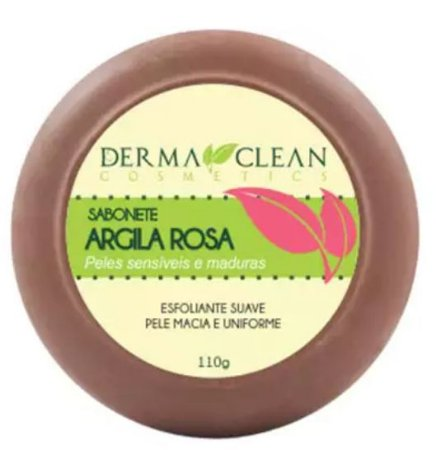 Sabonete de Argila Rosa 110g – Derma Clean Cosmetics