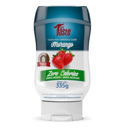 Calda para Sobremesa Sabor Morango Zero Calorias, Zero Sódio e Zero Açúcar 335g – Mrs. Taste