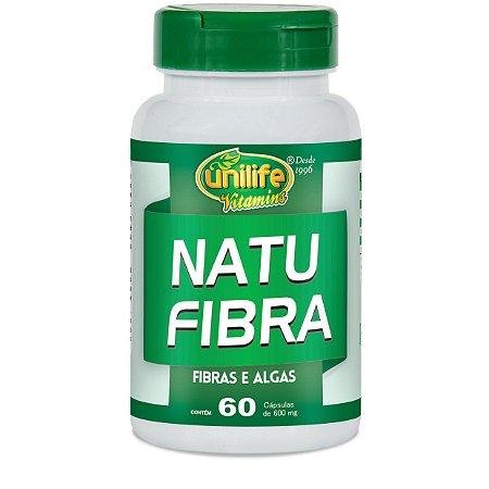 Natu Fibra – Fibras e Algas 60 Cápsulas de 600mg Cada – Unilife Vitamins