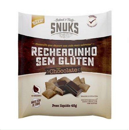 Recheadinho Sem Glúten Sabor Chocolate 45g – Snuks