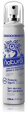 Desodorante Natural – Com extratos de pepino e chá verde contém 120ml – Suavetex
