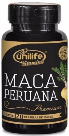 Maca Peruana Premium Pura – 120 Cápsulas de 550mg Cada – Unilife Vitamins