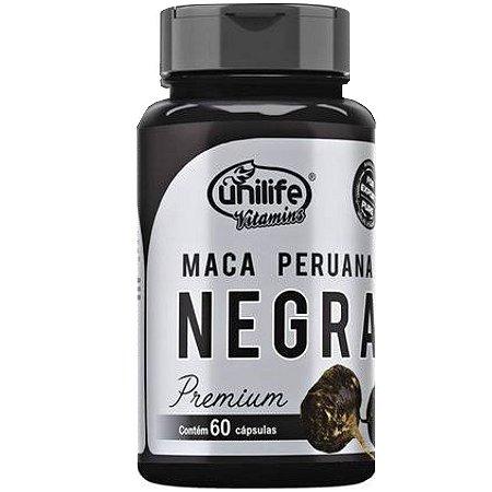Maca Peruana Negra – 60 Cápsulas de 450mg Cada – Unilife Vitamins