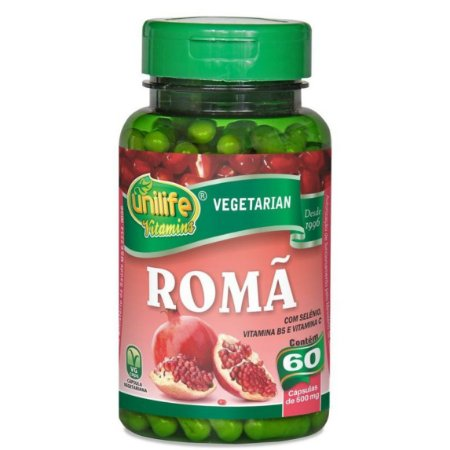 Romã com selênio, vitamina B5 e vitamina C em cápsulas 1200mg – 60 cápsulas – Unilife.