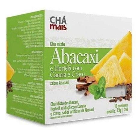 Chá misto abacaxi e hortelã com Canela e cravo em sachê – 10 sachês – Chá mais