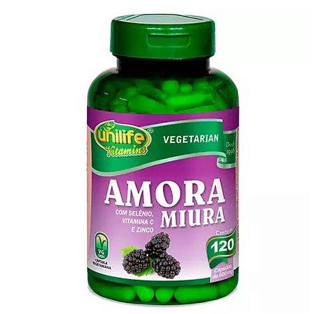 Amora Miura com Selênio, Vitamina C e Zinco - 120 cápsulas de 500mg cada – Unilife Vitamins