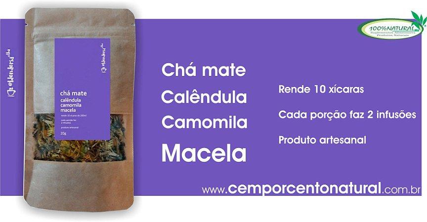 Blend para Infusão: Erva-Mate, Calêndula, Camomila e Macela 20g – Blenderia Curitiba.