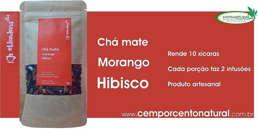Blend para Infusão: Erva-Mate, Morango e Hibisco 20g – Blenderia Curitiba.