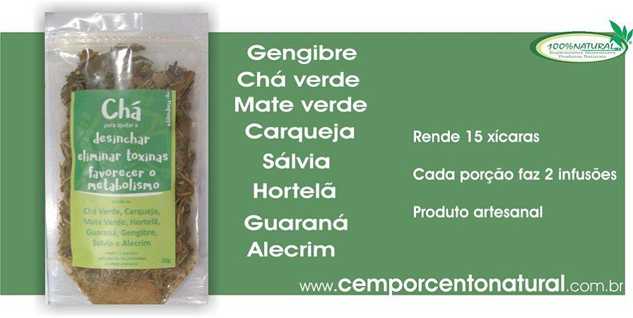 Chá para ajudar desinchar, eliminar toxinas e favorece o metabolismo 30g – Blenderia Curitiba