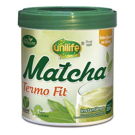 Termo Fit Matcha – Sabor Limão – 220g – Unilife