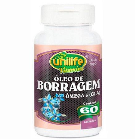 Óleo de Borragem 60 Cápsulas de 700mg Cada – Unilife Vitamins