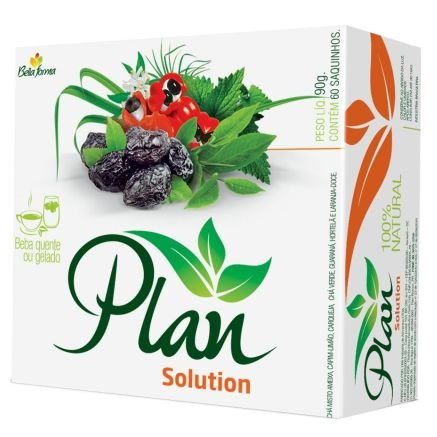 Plan Solution - Peso líquido 90g, contém 60 sachês - Bella Forma