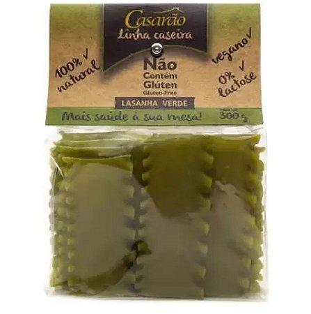 Massa de Lasanha Caseira Verde Sem Glúten 300g  – Casarão
