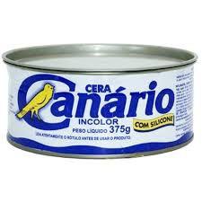 Cera para assoalho marca canário 375 gramas incolor