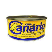 Cera para assoalho marca canário 375 gramas amarela